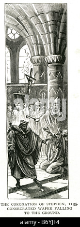 the coronation of Stephen 1135 consecrated wafer falling to the ground 1096 – 25 October 1154 - Stock Photo