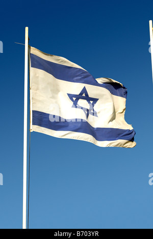 The flag of Israel, Herzliya, Israel - Stock Photo