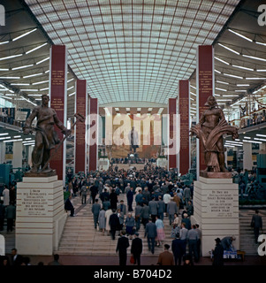 Interior of the Russian pavilion, Expo 58, Heysel, Brussels, Belgium, 1958 - Stock Photo