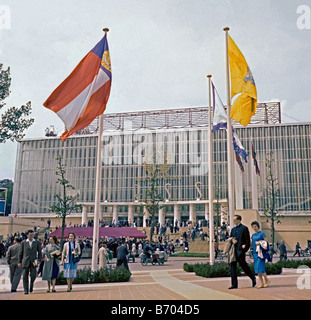 Russian pavilion at Expo 58, Heysel, Brussels, Belgium, 1958 - Stock Photo