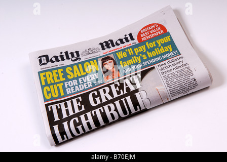 Daily Mail Newspaper. - Stock Photo