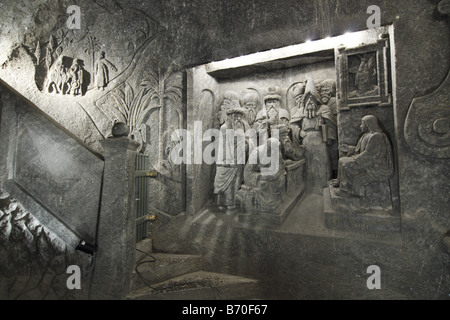 Wieliczka Salt Mine. UNESCO World Heritage site. - Stock Photo