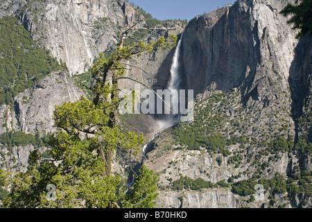 CALIFORNIA - Upper Yosemite Falls in Yosemite National Park. - Stock Photo