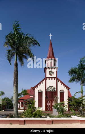 Suriname, Paramaribo, Catholic church, called Sint Alfonsius, in the historic inner city. - Stock Photo