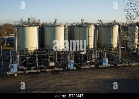 Water vessels at Thames Water treatment works, Kempton Park, Middlesex. UK. (44) - Stock Photo