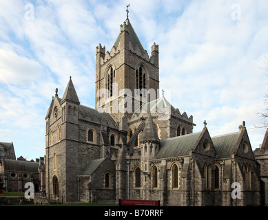 Christ Church Cathedral Dublin Church of the Holy Trinity founded in 1030 Dublin Ireland - Stock Photo