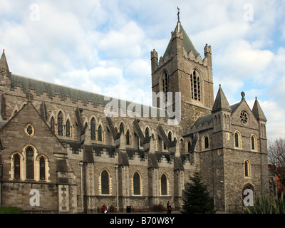 Christ Church Cathedral founded 1030 Dublin Ireland - Stock Photo
