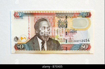 Kenya Fifty 50 Shilling Bank Note - Stock Photo