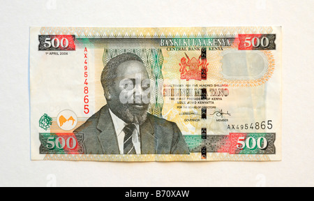 Kenya Five Hundred 500 Shilling Bank Note - Stock Photo