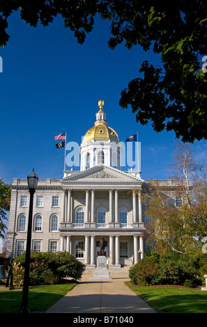 The New Hampshire State House is the state capitol building located in Concord New Hampshire USA - Stock Photo