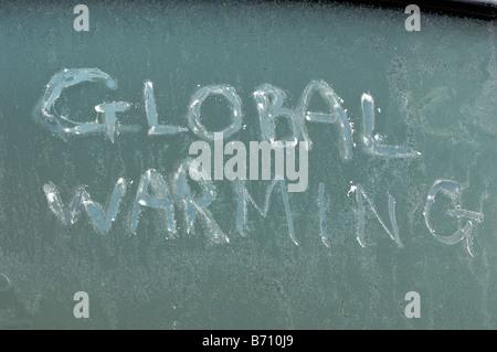 Message on Window - John Gollop - Stock Photo