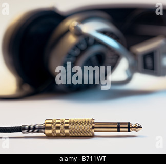 Headphone plug - Stock Photo