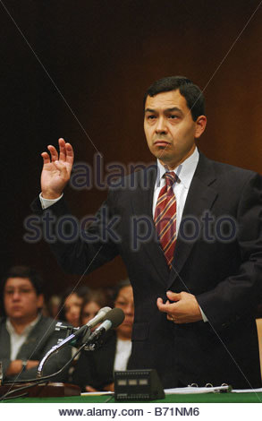 9 26 02 ESTRADA NOMINATION TO D C COURT OF APPEALS Miguel Estrada President Bush s nominee to the United States - Stock Photo