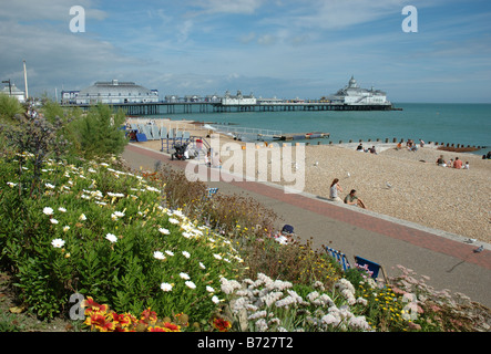 Eastbourne seafront, East Sussex, England, Uk - Stock Photo