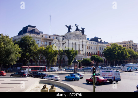 Ministerio de Agricultura exterior frontage in Madrid - Stock Photo