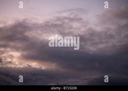 heavy gale purple stormy clouds - Stock Photo
