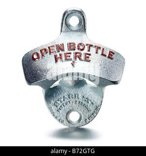 metal bottle opener - Stock Photo