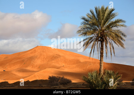 Dunes in Erg Chebbi, Merzouga, Morocco - Stock Photo