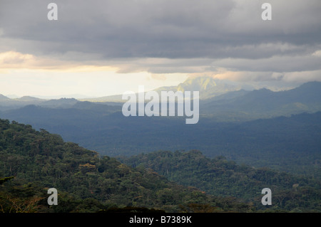 Nimba Mountain range World Heritage Site from the west Liberia - Stock Photo