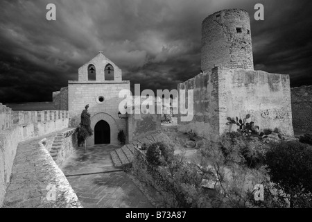 church fortress capdepera mallorca spain stock photo royalty free image 103228035 alamy. Black Bedroom Furniture Sets. Home Design Ideas