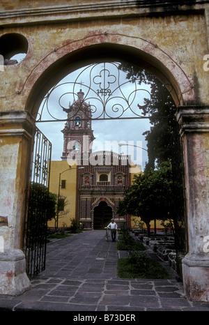 The Templo de Santa Maria church in the village of Tonantzintla, Puebla state, Mexico - Stock Photo