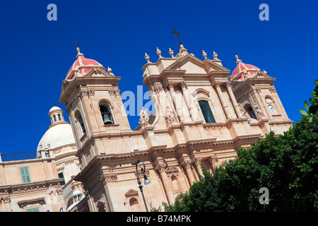 San Nicolo Cathedral, Noto, Sicily - Stock Photo