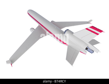 isolated airplane over white background - Stock Photo