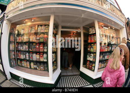 A Classic English sweetshop Britcher & Rivers Ltd ,109 High Street, Rye, East Sussex - Stock Photo