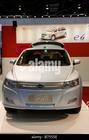 Detroit Michigan The Chinese made BYD E6 electric car on display at the North American International Auto Show - Stock Photo