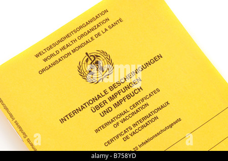 International certificates of vaccination - Stock Photo