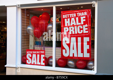Better than half price sale in January 2009 - Stock Photo