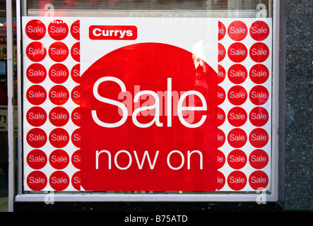 Currys sale in January 2009 - Stock Photo