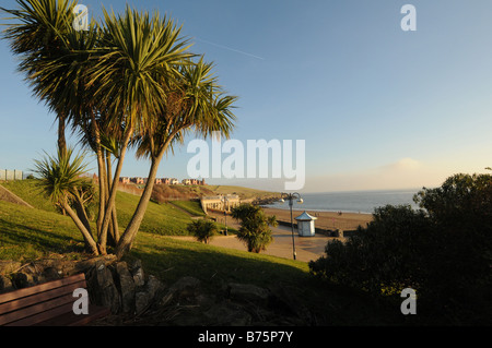 Beach and headland Barry Island Vale of Glamorgan South Wales - Stock Photo