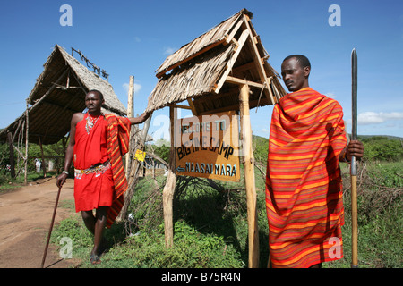 The Massai mara natural park in kenya is a famous location for tourists to visit Their are several luxury lodges - Stock Photo