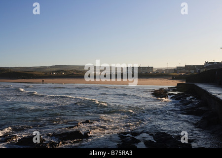 Portrush East Stand in the Winter - Stock Photo