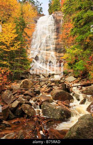 Arethusa Falls, Crawford Notch State Park, New Hampshire, USA - Stock Photo