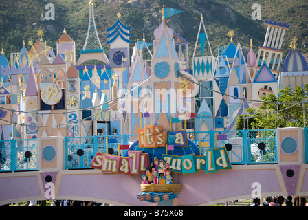 It's a small world ride, Fantasyland, Hong Kong Disneyland Resort, Lantau Island, Hong Kong, People's Republic of - Stock Photo