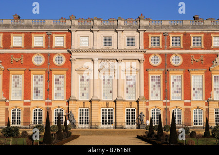 The Privy garden and the Hampton Court Palace Surrey - Stock Photo