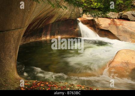 The Basin, Franconia Notch, White Mountains, New Hampshire, USA - Stock Photo