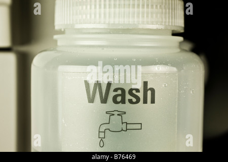 Wash collection vessel for atomic absorption autosampler, - Stock Photo
