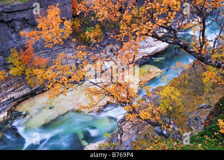 abisko jakka river njulla mountain abisko canyon landscape abisko national park norrbotten lapland sweden europe