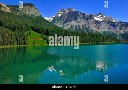 General view of Emerald Lake in Yoho National Park, British Columbia, Canada - Stock Photo