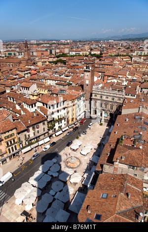 Piazza Erbe, Verona, Veneto, Italy