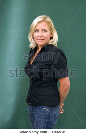 Lucy Hawking daughter of Professor Stephen Hawking They have wriiten a children s Science fiction book together - Stock Photo