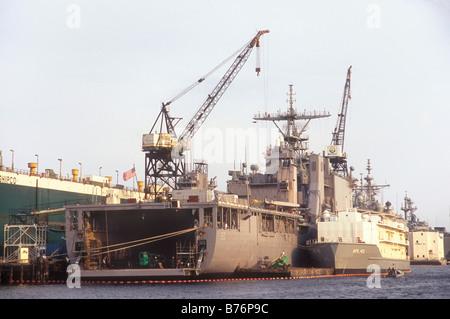 Naval Yard, Norfolk, Virginia, USA - Stock Photo