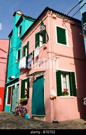Burano Island Venice Italy - Stock Photo