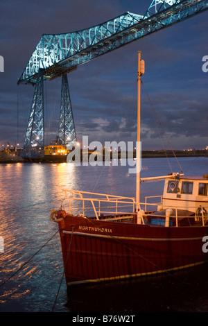 The Middlesbrough Transporter Bridge - Stock Photo
