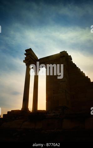 Temple of Apollo Hylates Kourion Archeolgical site in Cyprus - Stock Photo