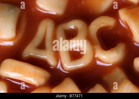 Spaghetti Letters ABC - Stock Photo