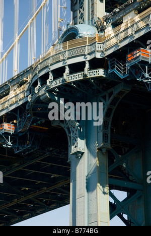 Manhattan Bridge, New York USA - Stock Photo